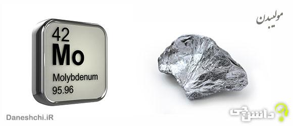 عنصر مولیبدن Mo 42، عنصری از جدول تناوبی