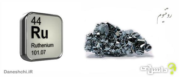 عنصر روتنیوم Ru 44، عنصری از جدول تناوبی